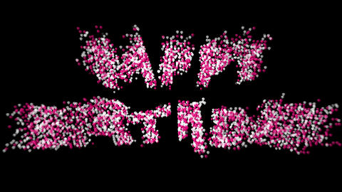 Happy Birthday particles 02 Animation