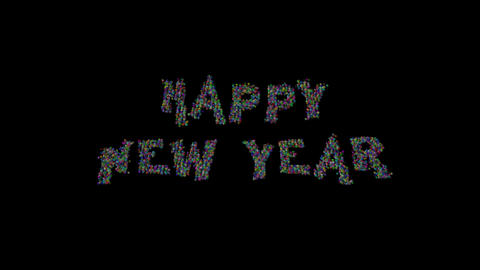 Happy New Year particles 01 CG動画