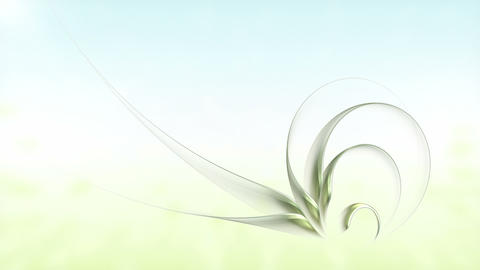 Spring, Green Leaves Growing, Floral Background Animation