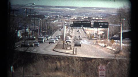 (1960's 8mm Vintage) Denver Boulder Highway Driving Tour Footage
