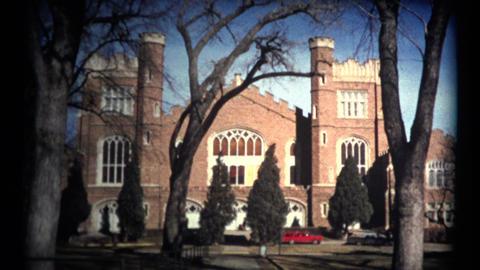 (1960's 8mm Vintage) University of Colorado At Boulder Campus Buildings Footage