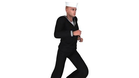 4k 走る海兵隊員 Animation