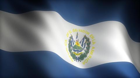 Flag of El Salvador Animation