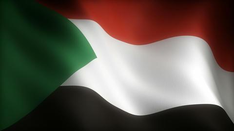 Flag of Sudan Animation