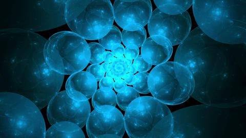 Blue Bubbles Vortex Animation