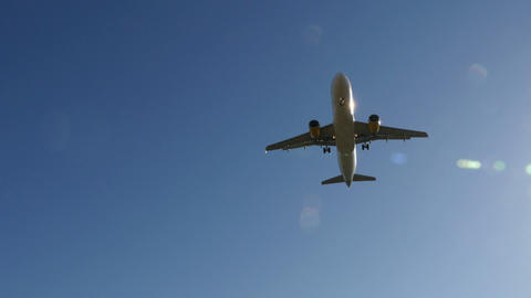 Jet Plane Airbus A320 Approaching Landing stock footage