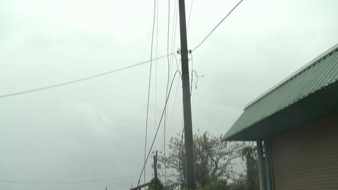 Hurricane Wind Damage To Utility Poles Wires Footage