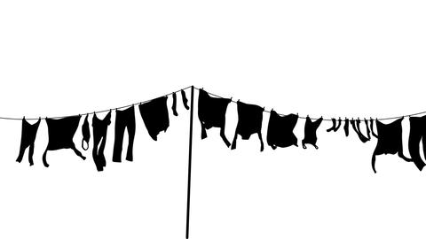 Washing Line Loop stock footage