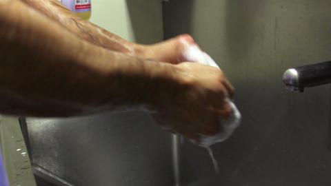 Mexico City, Mexico-CIRCA May,2014: Surgeon washing his hands before surgery Footage