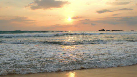 landscape with tropical sea sunset on the beach Footage