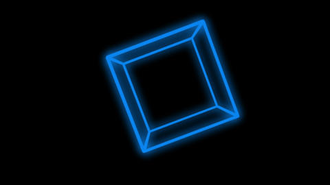 4k 3d blue cube,mathematics geometry in space Footage