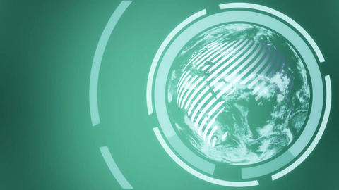 Earth globe Intro green Animation
