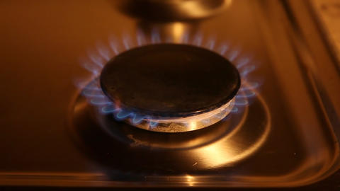 Old Gas Oven stock footage