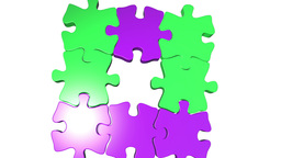Moving Puzzle Pieces stock footage