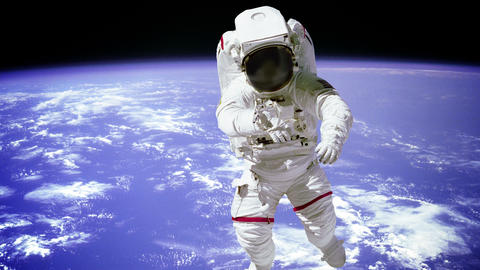 Astronaut spaceman outer space people planet earth Footage