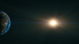 CG Animation Of The Earth And The Sun stock footage