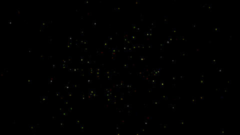 4k fly stars & particle magnetic field,science fiction festivals debris Footage
