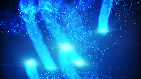 blue plasma balls and spaks rushing loopable background Animation