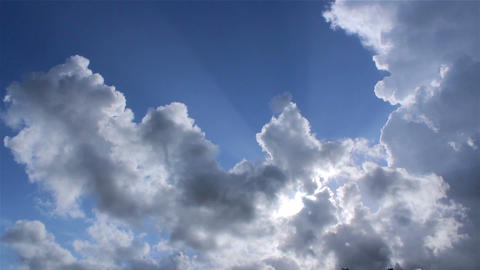 Clouds Background Timelapse A stock footage