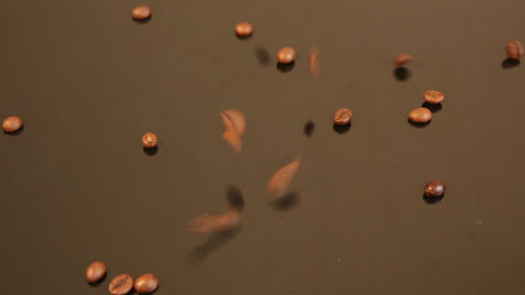 Dropping Coffee Beans stock footage