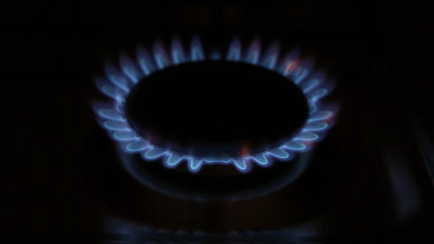 Gas Burner Zoom stock footage