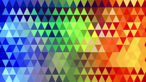 rainbow spectrum triangles geometric loopable background 4k (4096x2304) Animation