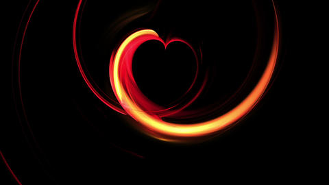 Fiery Red Dynamic Heart Animation