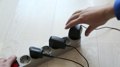 Using An Electric Extender stock footage