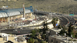 Chaos Around The Teddy Stadium In Jerusalem, Israel stock footage