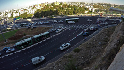 4K Road-Chaos near the Stadium in Jerusalem before s soccer game (time lapse) Footage