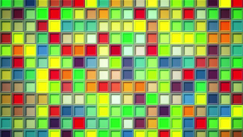 shimmering colorful squares loopable background 4k…, Stock Animation