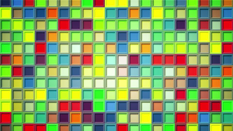 shimmering colorful squares loopable background 4k (4096x2304) Animation