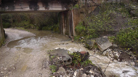 Creek along Road under Bridge 1 Live Action