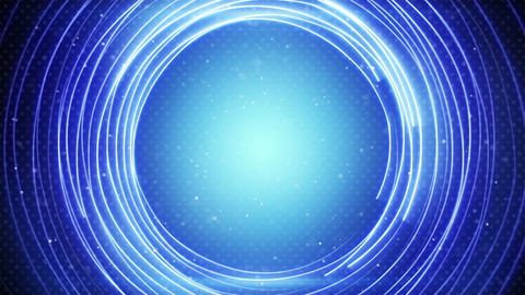 glowing blue circle lines abstract loopable background Animation