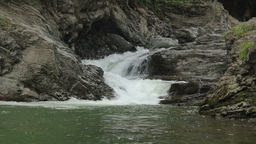 Waterfall On A Mountain River stock footage