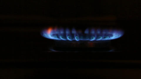 Gas burner side view Footage