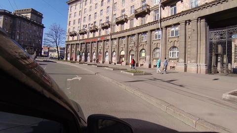 Komsomolskaya Square in St. Petersburg Footage
