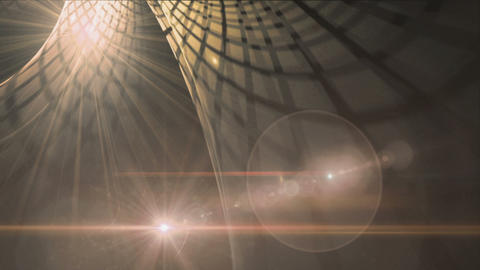 Rays of Warm Light In Motion, Flare Animation