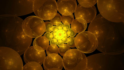 Orange And Yellow Bubbles Vortex Animation
