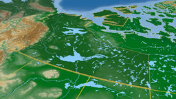 Northwest Territories - Canada territory extruded. Bumps shaded Animation