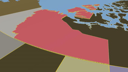 Northwest Territories - Canada territory extruded. Solids Animation