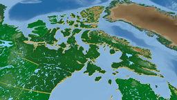 Nunavut - Canada territory extruded. Bumps shaded Animation