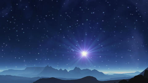 The blue star in the sky alien planet Animation