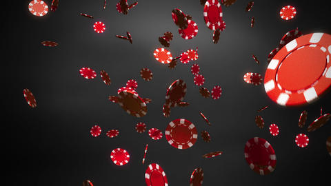 red Casino chips black Animation