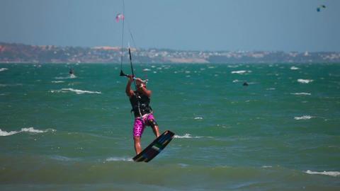 Kite Surfer stock footage