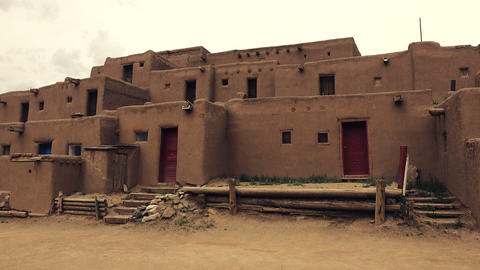 Pueblo Native American Building Footage