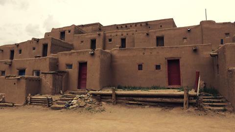 Pueblo Native American Building Footage
