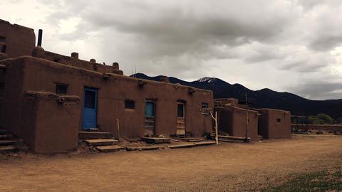 Native American Pueblo Building Footage