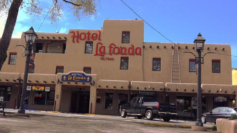 Hotel La Fonda Taos, New Mexico USA stock footage