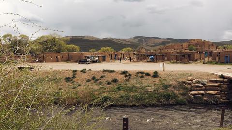 Ancient Pueblo Village - Modern Day Living Footage